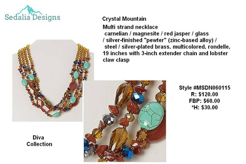 Crystal Mountain multi-strand necklace