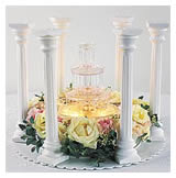 Assemble pillars and additional base plate. Use 14 in. or larger plates; 13 in. or taller pillars for the tallest cascade. & Cake Decorating Instruction - Tiered Cakes