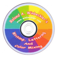 WRITING, LETTERING, & COLOR MIXING DVD BY ROLAND WINBECKLER