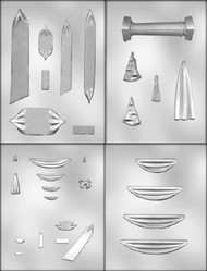 Drape/Swag/Bow/Pillar Mold Set--4 Mold Sheets