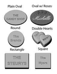Personalized Mint Candy Molds
