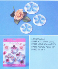 PME 5-PETAL CUTTER SET/3 LARGE