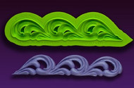 Flourish Border Mold--Marvelous Molds Silicone Mold