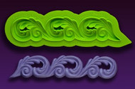 Scroll Border Mold--Marvelous Molds Silicone Mold