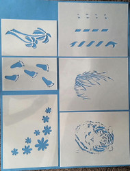 Winbeckler Stencil Set--Pkg/10 Stencils Plus Assorted Masks