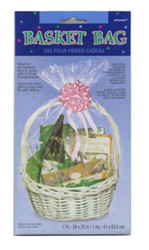 "BASKET BAG 24"" X 25"" CLEAR--PKG/12"
