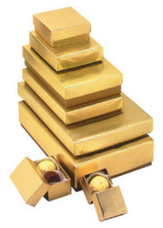 GOLD FOIL BOX--VARIETY OF SIZES