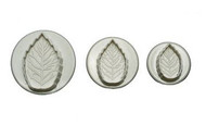 Veined Leaf Plunger Cutters - Set of 3