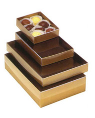 GOLD BASE WITH CLEAR LID BOX--VARIETY OF SIZES