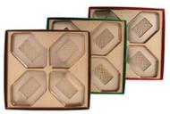 "5 X 5 X 1"" BROWN BOX-4 CAV GOLD INSERT"