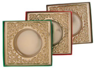 "5 X 5 X 1"" BROWN BOX-GOLD ROUND INS"