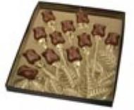 "12 ROSE SPRAY BOX-GOLD INSERT, 8 3/4"" X 10 5/8"" X 3/4"""