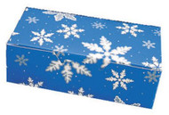 "1# FOLDING BLUE SNOWFLAKES BOX 7"" X 3 3/8"" X 2""--PKG/25"