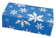 "1# FOLDING BLUE SNOWFLAKES BOX 7"" X 3 3/8"" X 2""--PKG/25"