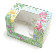 "1/4# FOLDING EGG BOX W/WINDOW 3 5/8"" X 2 3/8"" X 2 3/8""--PKG/25"
