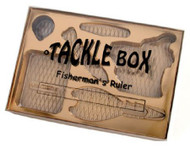 FISHING TACKLE BOX W/GOLD INSERT