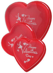 4 OZ PRINTED CLEAR LID HEART