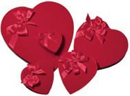 1# RED VELVET HEART BOX W/BOW