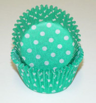 "POLKA DOT BKG CUP GREEN--2"" Base, 1-1/4"" Wall---BOX/500"