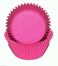 "PINK GLASSINE BAKING CUPS--2"" Base, 1-1/4"" Wall--PKG/500"