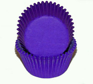 "PURPLE GLASSINE BAKING CUPS--2"" Base, 1-1/4"" Wall--PKG/500"