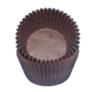 "BROWN GLASSINE BAKING CUPS--2"" Base, 1-1/4"" Wall--PKG/500"