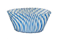 "STRIPED BAKE CUP BLUE--2"" Base, 1-1/4"" Wall--PKG/500"