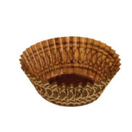 "BROWN/GOLD BAKING CUP MINI--1-3/8"" Base, 3/4"" Wall--1-3/8"" Base, 3/4"" Wall--BOX/1000"