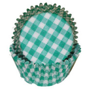 "GINGHAM GRN MINI BKG CUP-1-1/2"" Base, 3/4"" Wall--PKG/500"