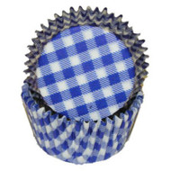 "GINGHAM BLUE MINI BKG CUP-1-1/2"" Base, 3/4"" Wall--PKG/500"