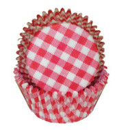 "GINGHAM RED MINI BKG CUP-1-1/2"" Base, 3/4"" Wall--PKG/500"