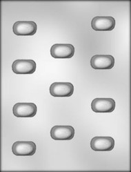 "1-1/4"" ALMOND TOP CHOCOLATE CANDY MOLD"