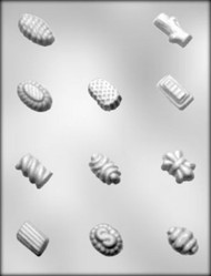 """1-1/8"""" - 1-1/2"""" FANCY LOG CANDIES CHOCOLATE CANDY MOLD"""