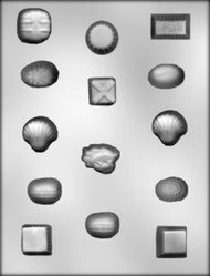 "1"" - 1-1/4"" ASSORTED SHAPE CHOCOLATE CANDY MOLD"