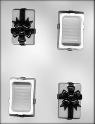 "3"" POUR BOX W/BOW CHOCOLATE CANDY MOLD"