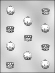"1-1/4"" CROWN ASST CHOCOLATE CANDY MOLD"