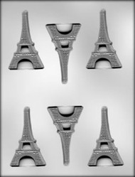 "3""FLAT EIFFEL TOWER CHOCOLATE CANDY MOLD"