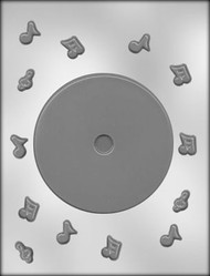 "4-5/8"" CD-DVD CHOCOLATE CANDY MOLD"