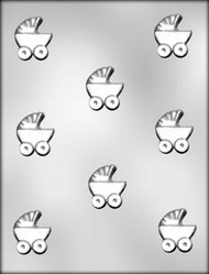 "1-1/2"" BABY BUGGY CHOCOLATE CANDY MOLD"