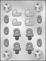 "1-1/4"" - 1-7/8"" BABY SHOWER ASST CHOCOLATE CANDY MOLD"