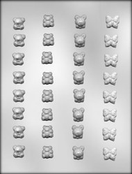 "3/4"" BEAR/BUTTERFLY CHOCOLATE CANDY MOLD"