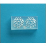 Clear Brooch Mold #35--Clear Silicone
