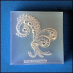 Clear Brooch Mold #34--Clear Silicone