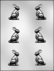 "2"" 3D BUNNY CHOCOLATE CANDY MOLD"