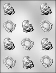 "1-3/4"" TURKEY/CORNUCOPIA CHOCOLATE CANDY MOLD"