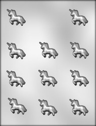 "1-3/8"" UNICORN CHOCOLATE CANDY MOLD"