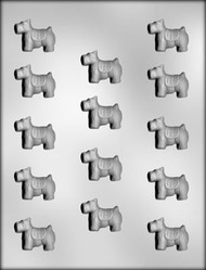 "1-3/8"" SCOTTIE DOG CHOCOLATE CANDY MOLD"