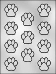 "1-1/2"" PAW PRINT CHOCOLATE CANDY MOLD"