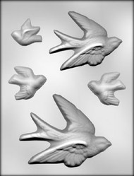 "1-1/2"" - 5-1/4"" BIRD ASST CHOCOLATE CANDY MOLD"