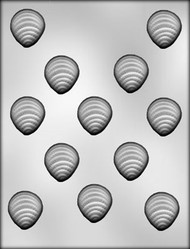 "1-3/8"" OYSTER CHOCOLATE CANDY MOLD"
